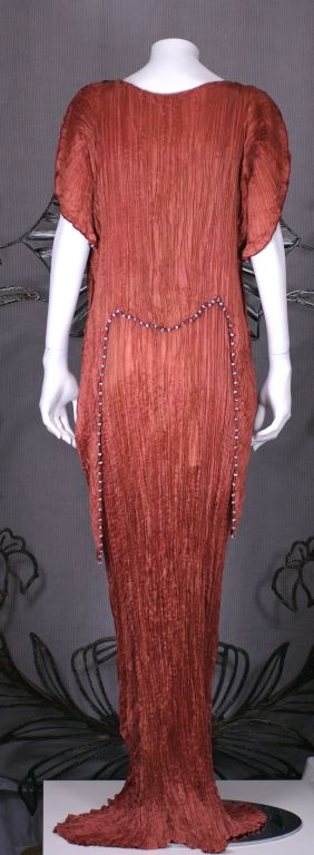 Mariano  Fortuny Sienna Peplos Gown For Sale 1