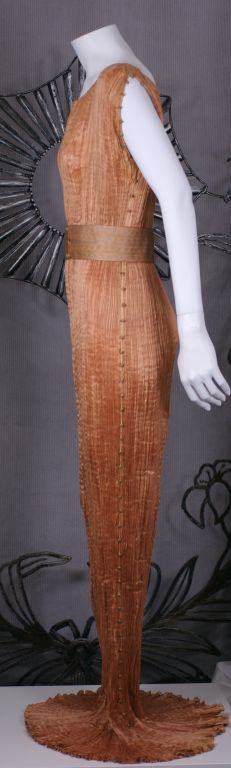 Women's Mariano Fortuny Apricot  Delphos Gown For Sale