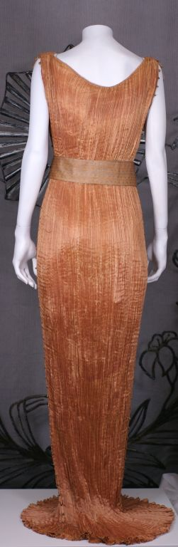 Mariano Fortuny Apricot  Delphos Gown For Sale 2