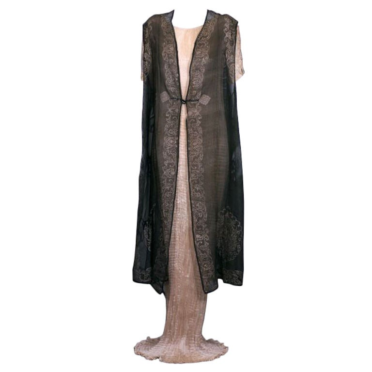 Mariano Fortuny Gauze Sleevless Coat, Provenance Tina Chow 1