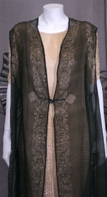 Mariano Fortuny Gauze Sleevless Coat, Provenance Tina Chow 2
