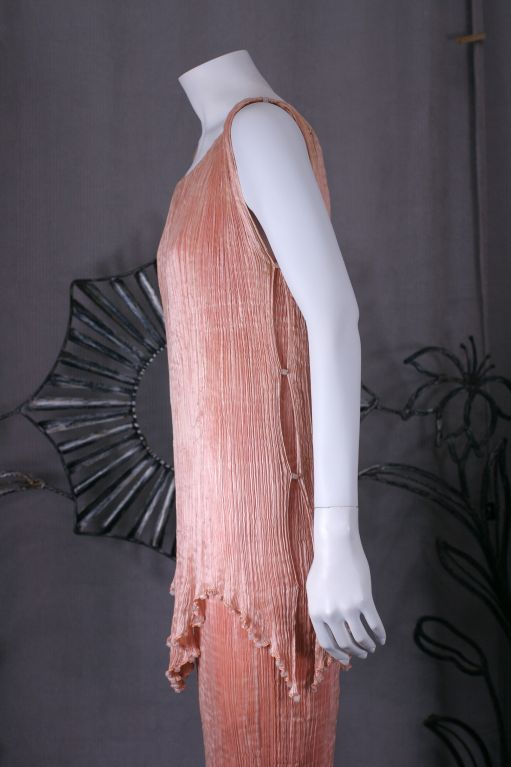 Mariano Fortuny Shell Pink Silk Peplos For Sale 1