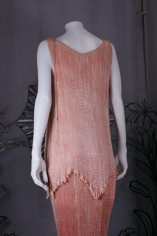 Mariano Fortuny Shell Pink Silk Peplos For Sale 2