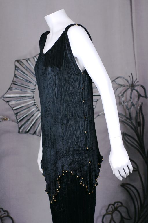 Mariano Fortuny Black Peplos Gown 2