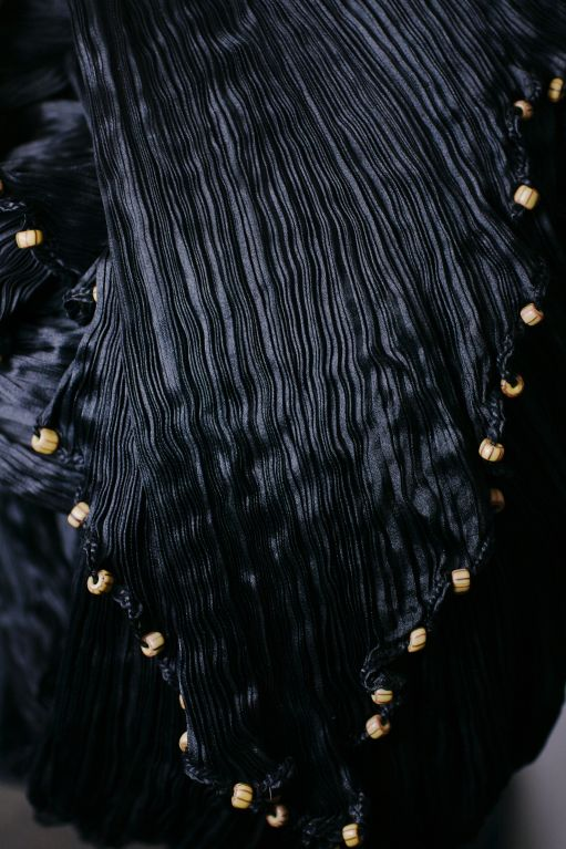 Mariano Fortuny Black Peplos Gown 7