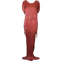 Mariano  Fortuny Sienna Peplos Gown