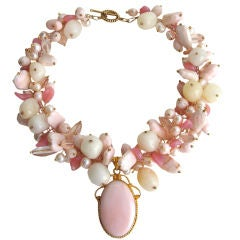 Peruvian Pink Parfait Opal Necklace - Back Bay Collection