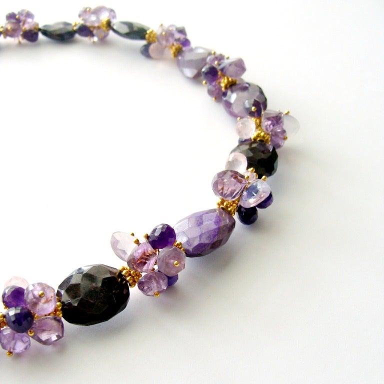 Sugilite Slabs Necklace Amethyst Lavender Opal Rose Quartz 2