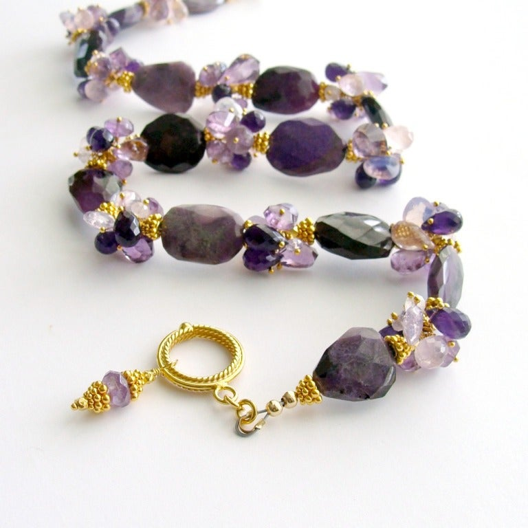 Sugilite Slabs Necklace Amethyst Lavender Opal Rose Quartz 3