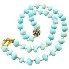 Chantal Necklace - Peruvian Blue Opals