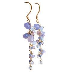 Isadora Earrings - Lavender Opal,  Lavender Chalcedony, Moonston