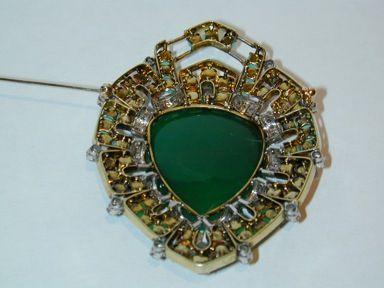 Victorian Jade Brooch image 2
