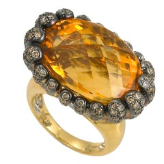 Large Citrine Cocktail Ring