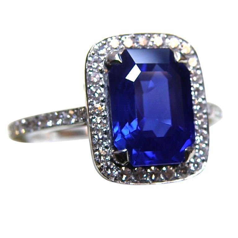 Exquisite and Rare Kashmir Sapphire Ring at 1stdibs