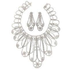 Magnificent  White Diamond Platinum Draperie Suite
