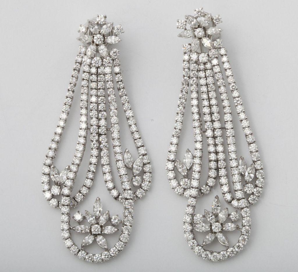 Magnificent White Diamond Platinum Draperie Suite For Sale 1