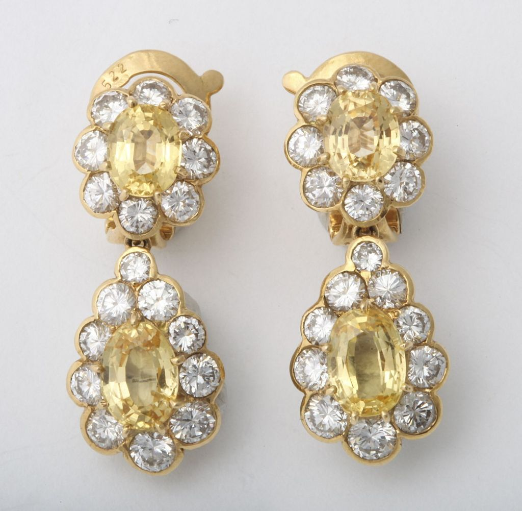 and earrings gold yellow white with pink sapphire diamonds index ii naples