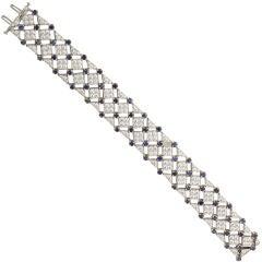 TIFFANY & CO  Diamond Sapphire  Bracelet