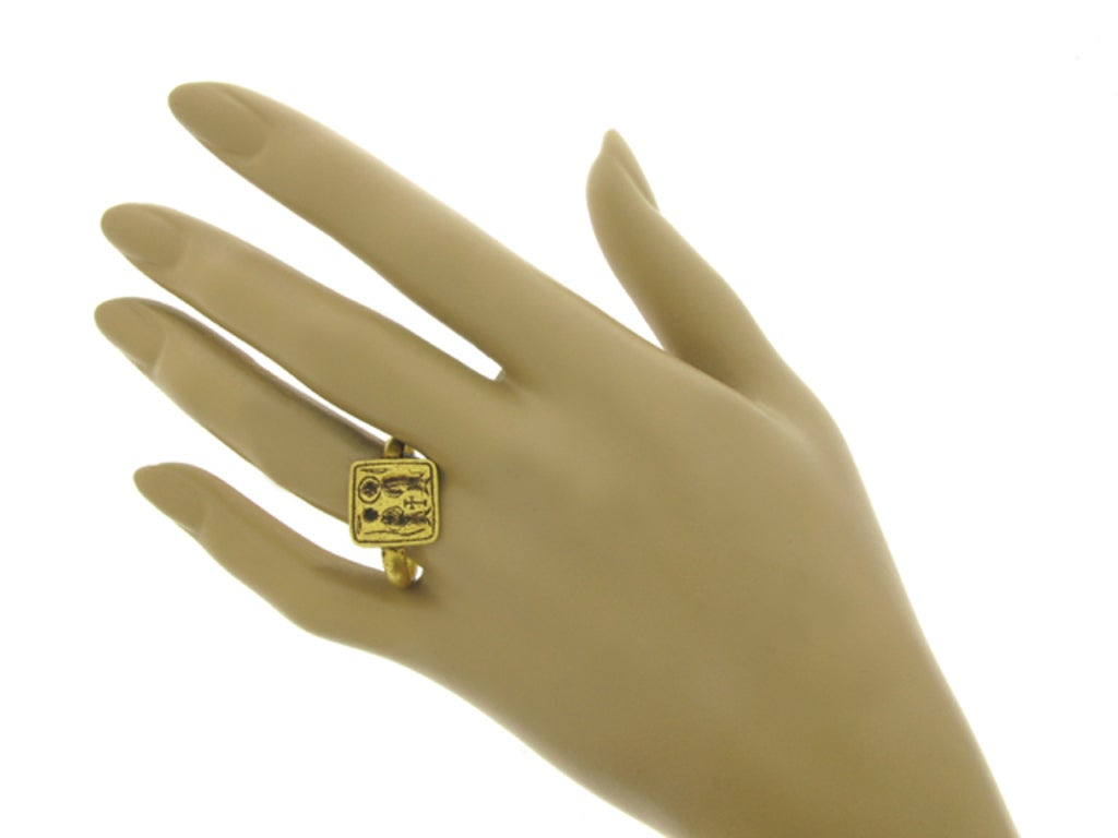 Women's or Men's Byzantine betrothal ring, 7th-8th century AD. For Sale