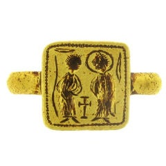 Byzantine betrothal ring, 7th-8th century AD.