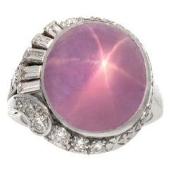 J. MILHENING Natural Unenhanced Star Sapphire Ring