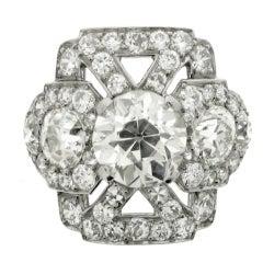 Ornate diamond cluster ring, circa 1920.