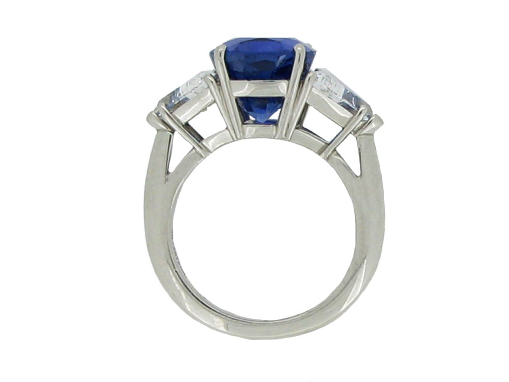 Tiffany & Co 7.75 Ct Unenhanced  Sapphire And Diamond Ring Circa 1962. 3