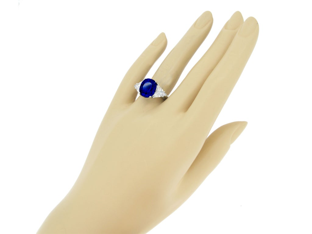 Tiffany & Co 7.75 Ct Unenhanced  Sapphire And Diamond Ring Circa 1962. 5