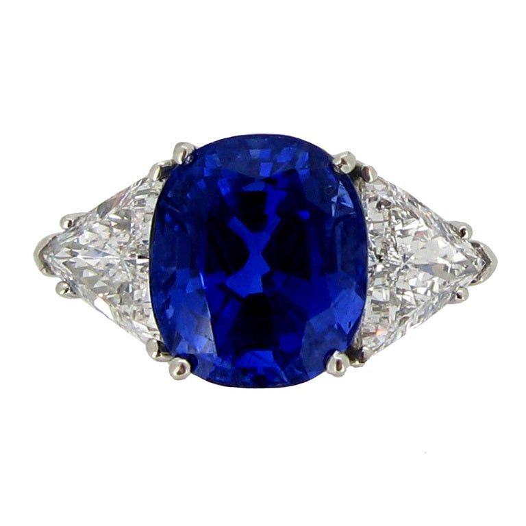 Tiffany & Co 7.75 Ct Unenhanced  Sapphire And Diamond Ring Circa 1962. 1