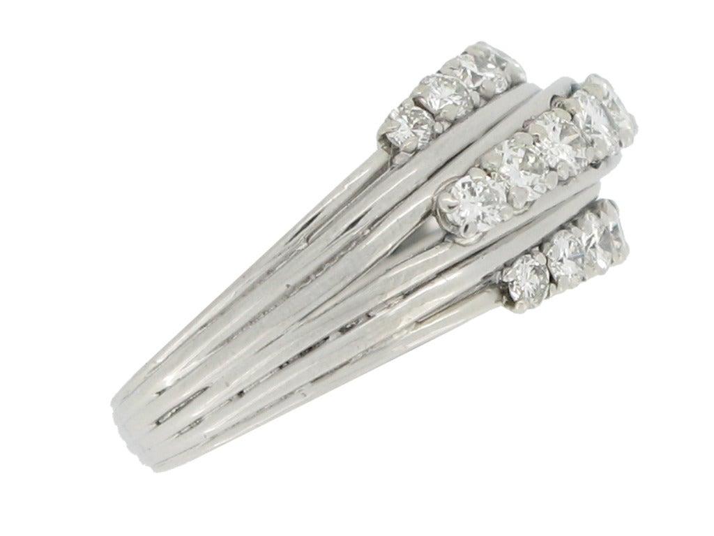 1950s Van Cleef & Arpels Paris diamond ring 2