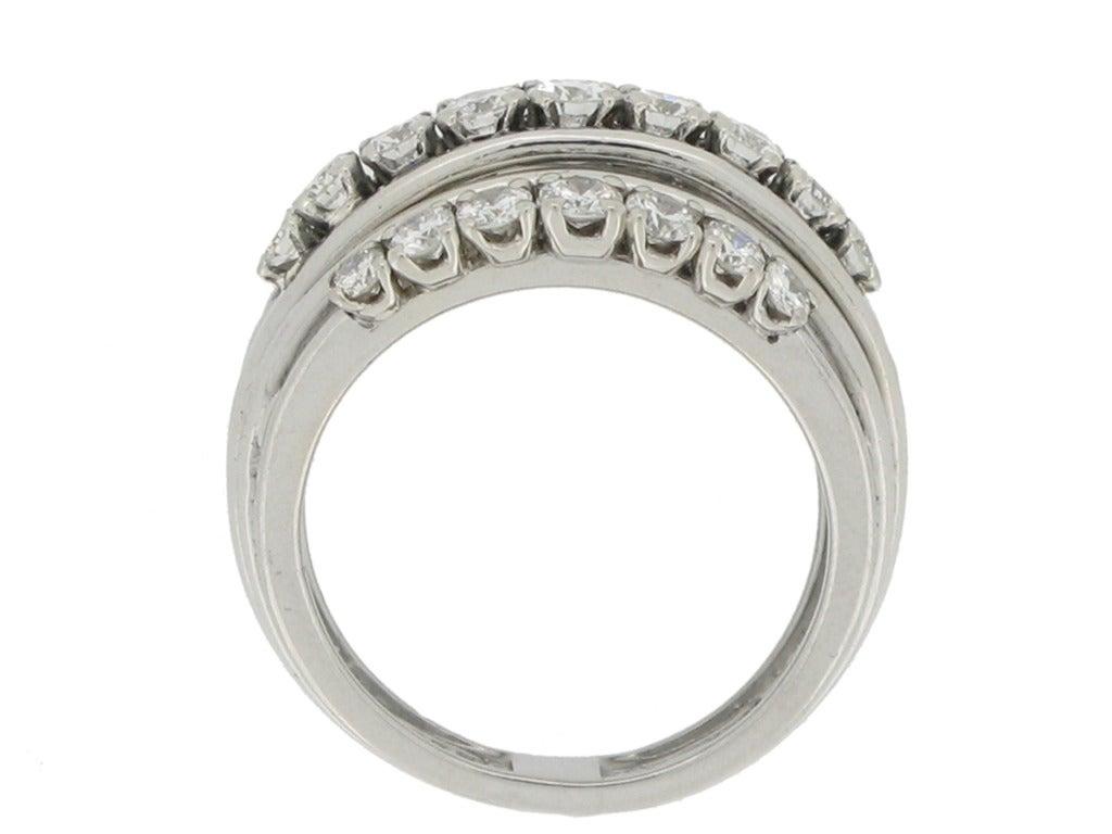 1950s Van Cleef & Arpels Paris diamond ring 3
