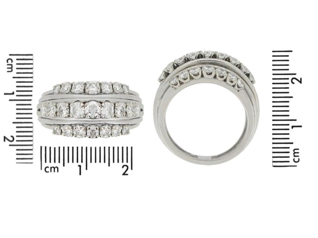 1950s Van Cleef & Arpels Paris diamond ring 4