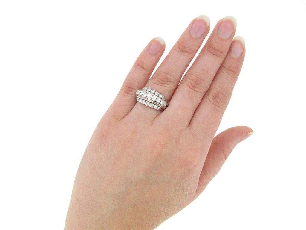 1950s Van Cleef & Arpels Paris diamond ring 5