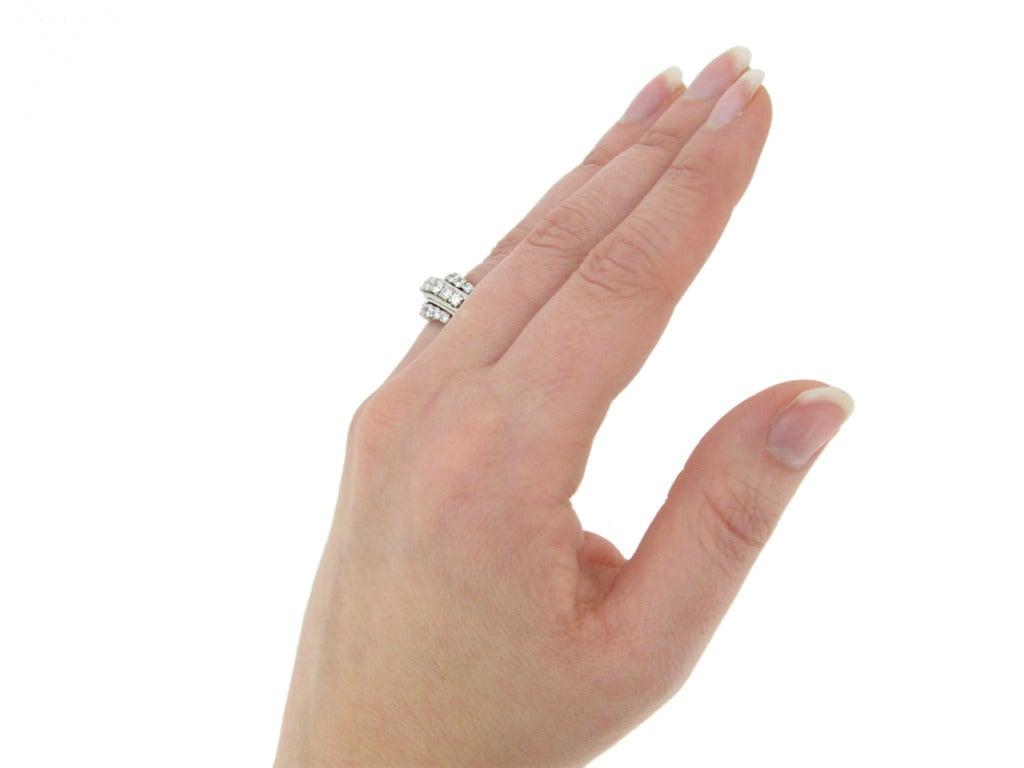 1950s Van Cleef & Arpels Paris diamond ring 6