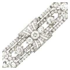 1920s Exceptional Diamond Platinum Bracelet