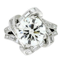 Mauboussin Diamond Cluster Ring French c1940