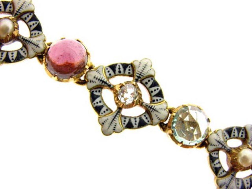 CARLO and ARTHUR  GIULIANO  Gold Enamel Gem Set Bracelet  2