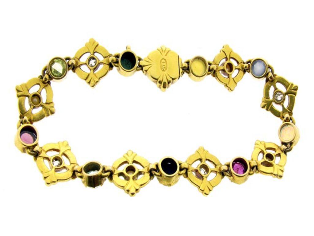 CARLO and ARTHUR  GIULIANO  Gold Enamel Gem Set Bracelet  4