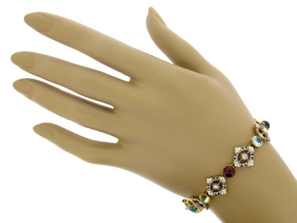 CARLO and ARTHUR  GIULIANO  Gold Enamel Gem Set Bracelet  5