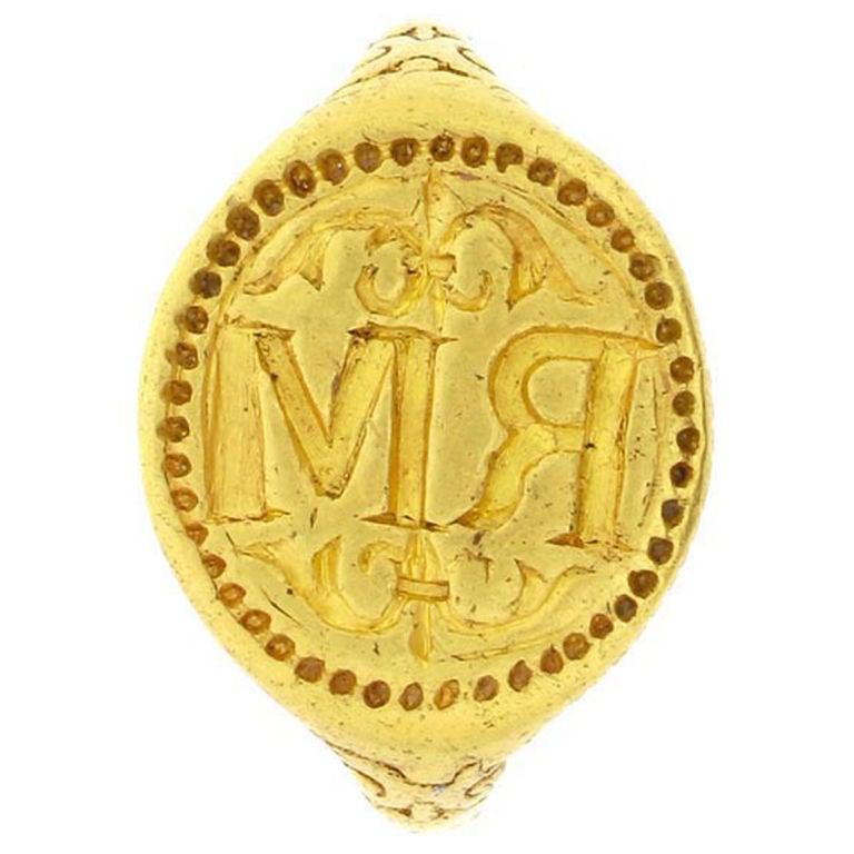 Rare Elizabethan Gold Signet Ring at 1stdibs