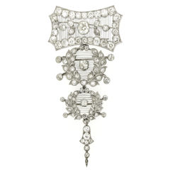 Child & Child Rare Magnificent Diamond Platinum Pendant Brooch, circa 1900