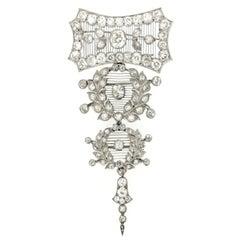 Child & Child Rare Magnificent Diamond Platinum Pendant Brooch, circa 1900