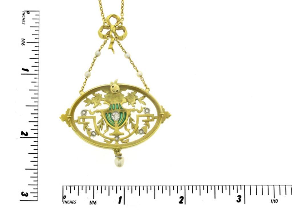 Art Nouveau pendant necklace/brooch by Gautrait 2