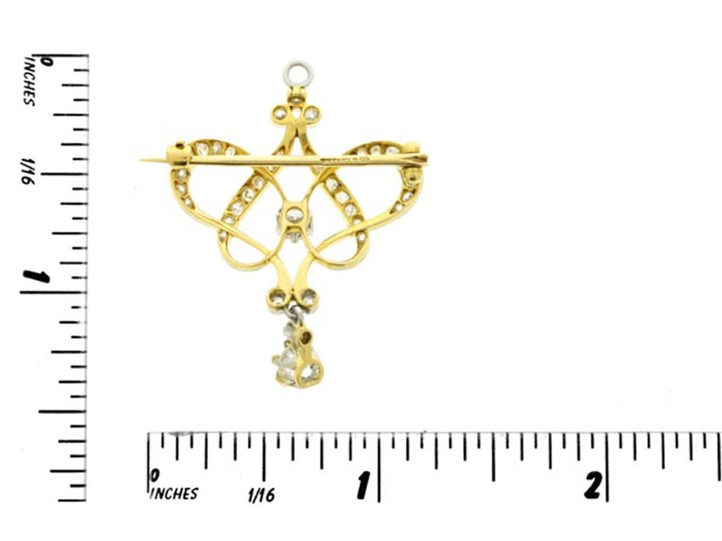 TIFFANY & CO Antique diamond pendant/brooch  2
