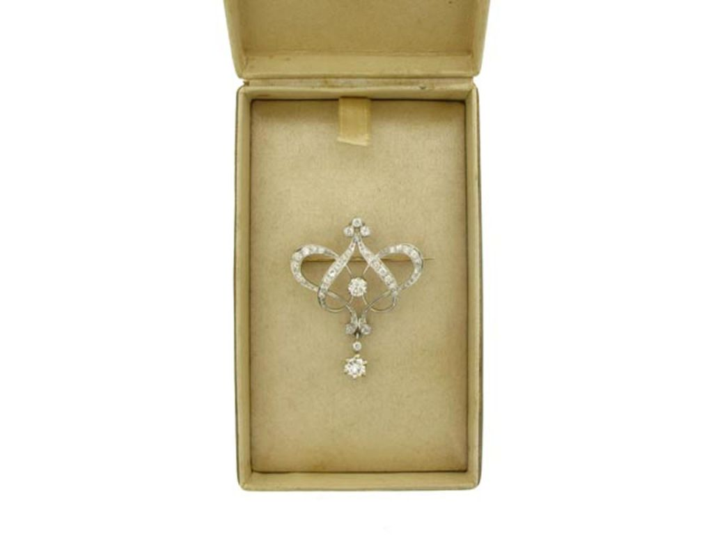 TIFFANY & CO Antique diamond pendant/brooch  3