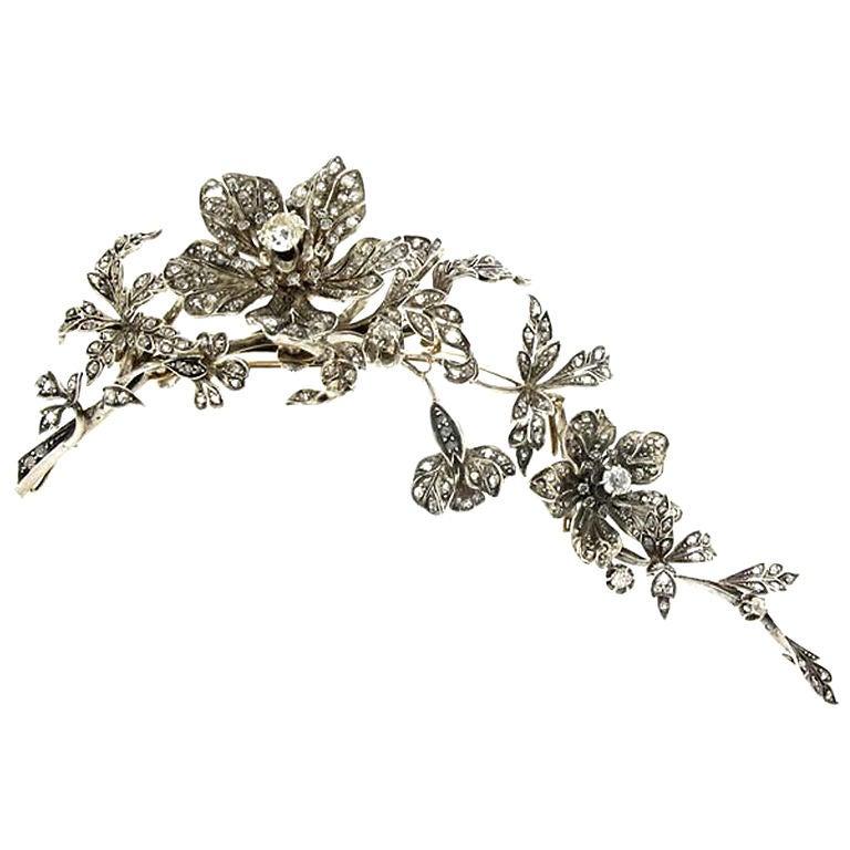 Convertible Diamond Corsage Ornament