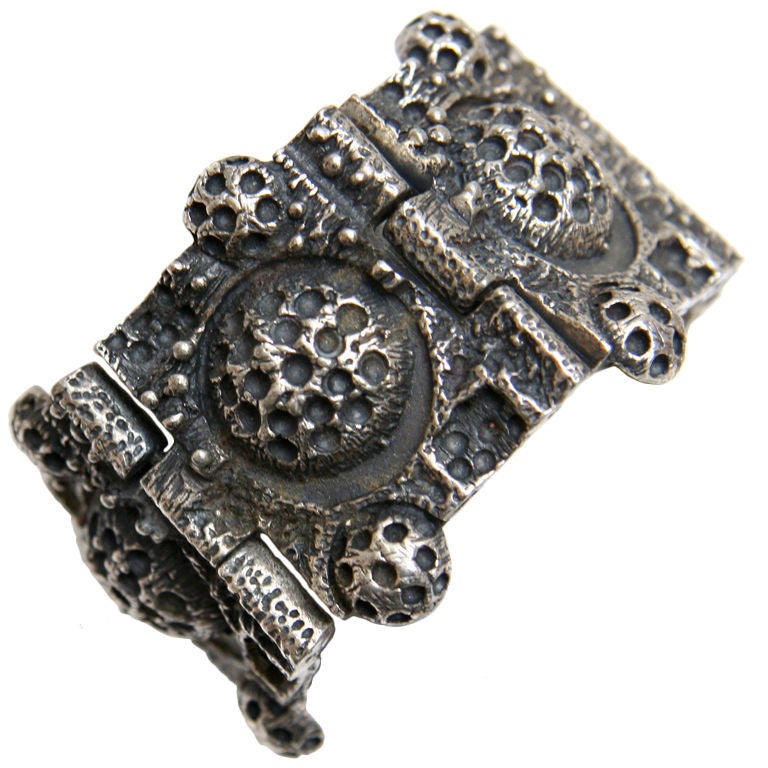 Robert Larin Oxidized Pewter Bracelet At 1stdibs