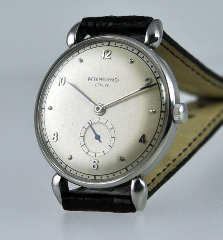 Rare Patek in Stainless Steel For Sale 1