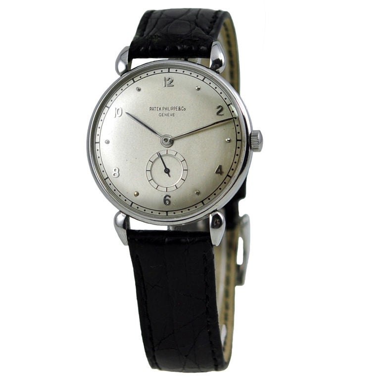 Rare Patek in Stainless Steel For Sale
