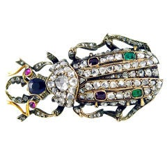 Big Beautful Beetle Brooch
